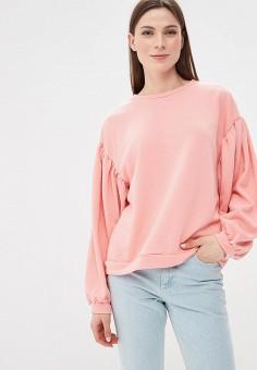 Свитшот, Befree, цвет: розовый. Артикул: BE031EWBDPD7. Одежда / Толстовки и свитшоты
