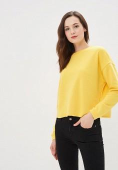 Свитшот, Befree, цвет: желтый. Артикул: BE031EWBXHV2. Одежда / Толстовки и свитшоты