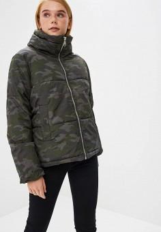 Куртка утепленная, Befree, цвет: хаки. Артикул: BE031EWBXHV7. Одежда / Верхняя одежда / Демисезонные куртки