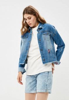 Куртка джинсовая, Befree, цвет: синий. Артикул: BE031EWBXIK5. Одежда / Верхняя одежда / Джинсовые куртки