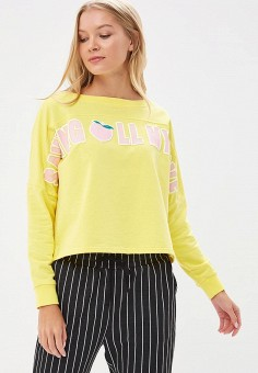 Свитшот, Befree, цвет: желтый. Артикул: BE031EWBXIL5. Одежда / Толстовки и свитшоты