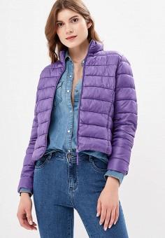 Куртка утепленная, Befree, цвет: фиолетовый. Артикул: BE031EWBXIO2. Одежда / Верхняя одежда / Демисезонные куртки