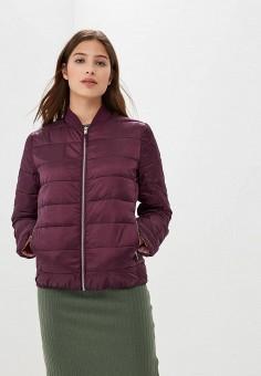 Куртка утепленная, Befree, цвет: бордовый. Артикул: BE031EWBXIO6. Одежда / Верхняя одежда / Демисезонные куртки