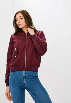Куртка утепленная, Befree, цвет: бордовый. Артикул: BE031EWBXIP6. Одежда / Верхняя одежда / Демисезонные куртки