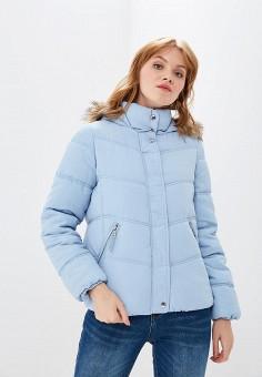 Куртка утепленная, Befree, цвет: голубой. Артикул: BE031EWBXJP8. Одежда / Верхняя одежда / Демисезонные куртки