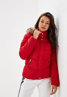 Куртка утепленная, Befree, цвет: красный. Артикул: BE031EWBXJQ0. Одежда / Верхняя одежда / Демисезонные куртки