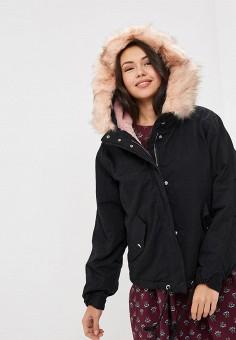 Куртка утепленная, Befree, цвет: черный. Артикул: BE031EWBXKR6. Одежда / Верхняя одежда / Демисезонные куртки
