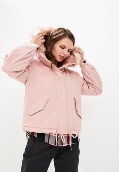Парка, Befree, цвет: розовый. Артикул: BE031EWBXKR7. Одежда / Верхняя одежда / Парки