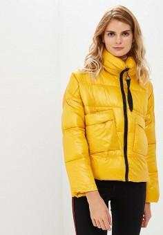 Куртка утепленная, Befree, цвет: желтый. Артикул: BE031EWBXLJ1. Одежда / Верхняя одежда / Демисезонные куртки