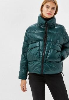 Куртка утепленная, Befree, цвет: зеленый. Артикул: BE031EWBXLJ2. Одежда / Верхняя одежда / Демисезонные куртки