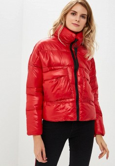 Куртка утепленная, Befree, цвет: красный. Артикул: BE031EWBXLJ4. Одежда / Верхняя одежда / Демисезонные куртки