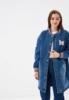 Куртка джинсовая, Befree, цвет: синий. Артикул: BE031EWBXLZ1. Одежда / Верхняя одежда / Джинсовые куртки
