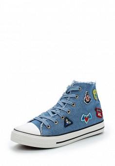 Кеды, Bellamica, цвет: голубой. Артикул: BE058AWAVVK4. Обувь / Кроссовки и кеды / Кеды