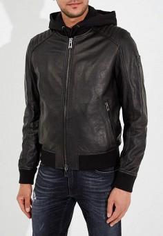Куртка кожаная, Belstaff, цвет: черный. Артикул: BE083EMARMQ2. Одежда / Верхняя одежда / Кожаные куртки