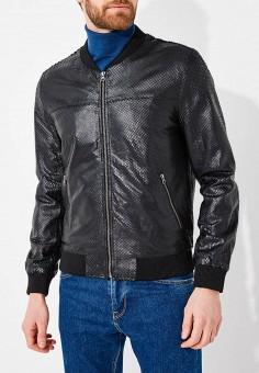 Куртка кожаная, Blouson, цвет: черный. Артикул: BL033EMAEOC2. Одежда / Верхняя одежда / Кожаные куртки