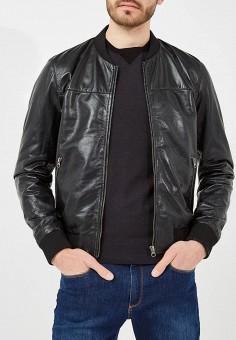 Куртка кожаная, Blouson, цвет: черный. Артикул: BL033EMAEOC4. Одежда / Верхняя одежда / Кожаные куртки