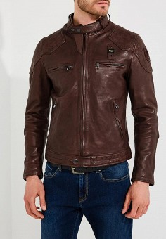 Куртка кожаная, Blauer, цвет: коричневый. Артикул: BL654EMAEXA4. Одежда / Верхняя одежда / Кожаные куртки