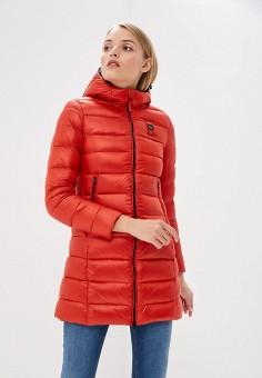 Пуховик, Blauer, цвет: красный. Артикул: BL654EWCATU0. Одежда / Верхняя одежда / Зимние куртки