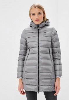 Пуховик, Blauer, цвет: серый. Артикул: BL654EWCATU1. Одежда / Верхняя одежда / Зимние куртки