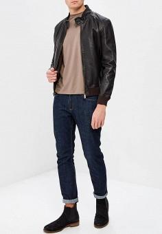 Куртка кожаная, Bomboogie, цвет: коричневый. Артикул: BO003EMAVYA7. Одежда / Верхняя одежда / Кожаные куртки