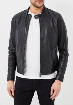 Куртка кожаная, Bomboogie, цвет: черный. Артикул: BO003EMAVYA8. Одежда / Верхняя одежда / Кожаные куртки