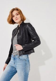 Куртка кожаная, Boss Hugo Boss, цвет: черный. Артикул: BO456EWAHRY9. Одежда / Верхняя одежда