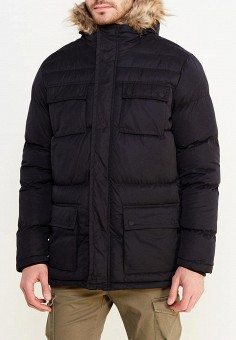 Куртка утепленная, Brave Soul, цвет: черный. Артикул: BR019EMUMI81. Одежда / Верхняя одежда / Пуховики и зимние куртки