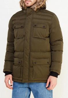 Куртка утепленная, Brave Soul, цвет: хаки. Артикул: BR019EMUMP31. Одежда / Верхняя одежда / Пуховики и зимние куртки