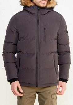 Куртка утепленная, Brave Soul, цвет: серый. Артикул: BR019EMUMP61. Одежда / Верхняя одежда / Пуховики и зимние куртки