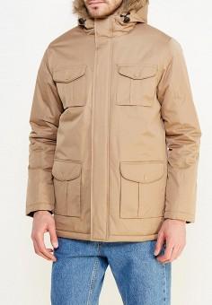 Куртка утепленная, Brave Soul, цвет: бежевый. Артикул: BR019EMXWS92. Одежда / Верхняя одежда / Пуховики и зимние куртки
