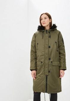 Куртка утепленная, Brave Soul, цвет: хаки. Артикул: BR019EWBSNC4. Одежда / Верхняя одежда / Демисезонные куртки