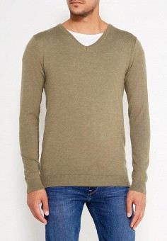 Пуловер, Bruebeck, цвет: хаки. Артикул: BR028EMWTY46. Одежда / Джемперы, свитеры и кардиганы