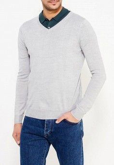 Пуловер, Bruebeck, цвет: серый. Артикул: BR028EMYOZ10. Одежда / Джемперы, свитеры и кардиганы