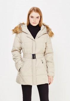 Куртка утепленная, Bruebeck, цвет: бежевый. Артикул: BR028EWWTY68. Одежда / Верхняя одежда
