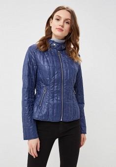 Куртка утепленная, B.Style, цвет: синий. Артикул: BS002EWARTA1. Одежда / Верхняя одежда / Демисезонные куртки