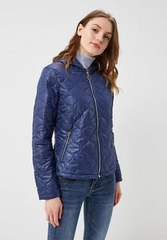 Куртка утепленная, B.Style, цвет: синий. Артикул: BS002EWARTA3. Одежда / Верхняя одежда / Демисезонные куртки