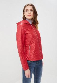Куртка утепленная, B.Style, цвет: красный. Артикул: BS002EWARTA4. Одежда / Верхняя одежда / Демисезонные куртки