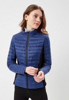 Куртка утепленная, B.Style, цвет: синий. Артикул: BS002EWARTB4. Одежда / Верхняя одежда / Демисезонные куртки