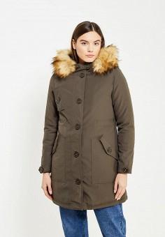 Куртка утепленная, B.Style, цвет: хаки. Артикул: BS002EWXWE15. Одежда / Верхняя одежда / Парки