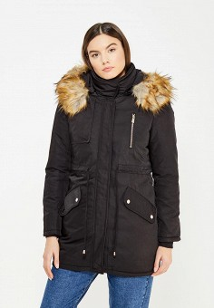 Парка, B.Style, цвет: черный. Артикул: BS002EWXWM34. Одежда / Верхняя одежда