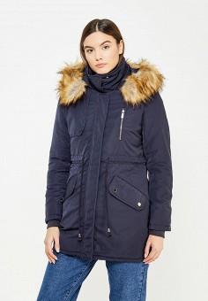 Парка, B.Style, цвет: синий. Артикул: BS002EWXWM35. Одежда / Верхняя одежда