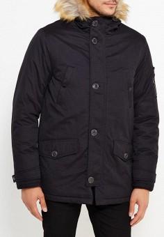 Куртка утепленная, Burton Menswear London, цвет: черный. Артикул: BU014EMWSM67. Одежда / Верхняя одежда / Пуховики и зимние куртки