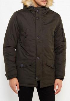 Куртка утепленная, Burton Menswear London, цвет: хаки. Артикул: BU014EMWSM70. Одежда / Верхняя одежда / Пуховики и зимние куртки