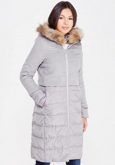 Куртка утепленная, By Swan, цвет: серый. Артикул: BY004EWYKE99. Одежда / Верхняя одежда