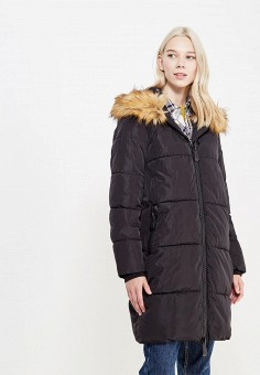 Куртка утепленная, By Swan, цвет: черный. Артикул: BY004EWYKF02. Одежда / Верхняя одежда