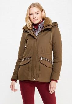 Куртка утепленная, By Swan, цвет: хаки. Артикул: BY004EWYKF10. Одежда / Верхняя одежда