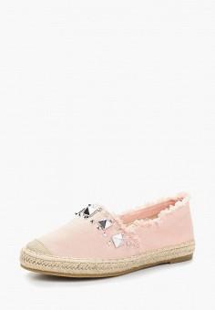 Эспадрильи, Catisa, цвет: розовый. Артикул: CA072AWBCPY9. Обувь