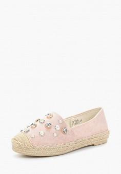 Эспадрильи, Catisa, цвет: розовый. Артикул: CA072AWBCWE3. Обувь