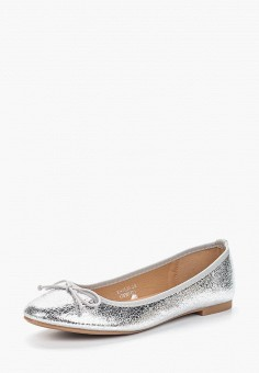 Балетки, Catisa, цвет: серебряный. Артикул: CA072AWBCWI5. Обувь