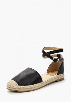 Эспадрильи, Catisa, цвет: черный. Артикул: CA072AWBMKR7. Обувь